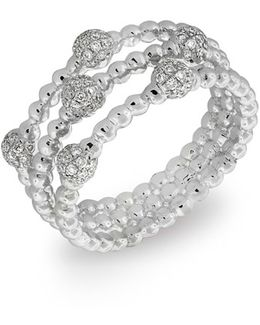 Pave Ball Bead Three-row Diamond Ring (nordstrom Exclusive)