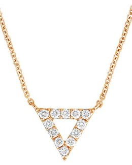 Diamond Pave Triangle Pendant Necklace (nordstrom Exclusive)