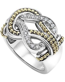 'newport' Diamond Knot Ring