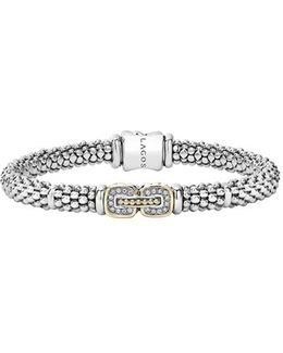 'cushion' Diamond Caviar Bracelet