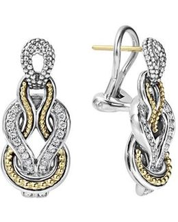 'newport' Diamond Knot Earrings