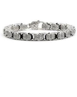 'minos' Etched Medium Link Bracelet