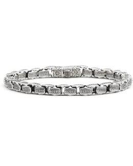 'minos' Etched Dot Link Bracelet