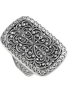 'classics' Rectangle Filigree Ring