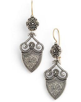 'silver Classics' Shield Drop Earrings