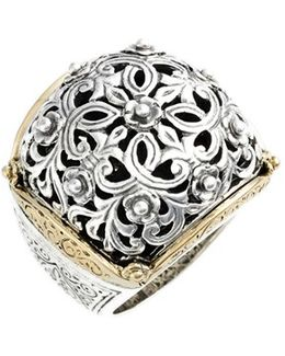 'silver & Gold Classics' Filigree Ring