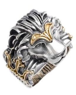 Carved Lion Ring