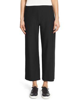 Washable Stretch Crepe Crop Pants