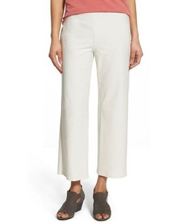 Stretch-Crepe Cropped Pants