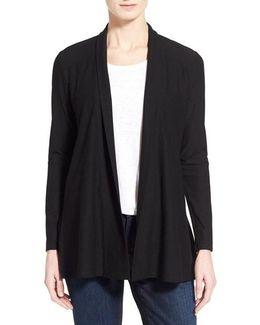 Jersey Knit Straight Cut Long Cardigan