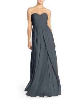 Mira Convertible Strapless Chiffon Gown