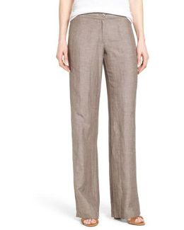 'easy' Linen Blend Wide Leg Pants