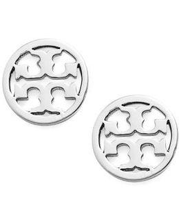 Circle Logo Stud Earrings