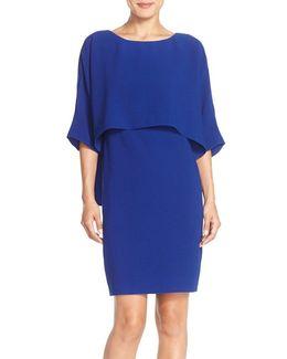 Draped Blouson Sheath Dress