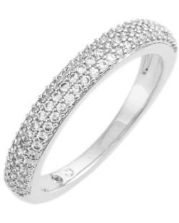 Stackable Pave Cubic Zirconia Ring