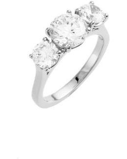 3-stone Cubic Zirconia Ring