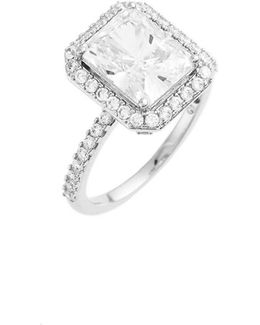 Cushion Cut Cubic Zirconia Ring