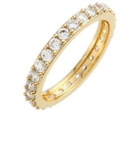 Cubic Zirconia Pave Band Ring