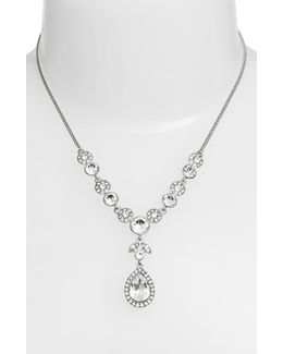 Crystal Y-necklace