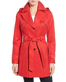 'scarpa' Hooded Single Breasted Trench Coat