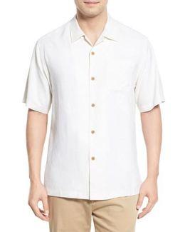 'rio Fronds' Short Sleeve Silk Sport Shirt