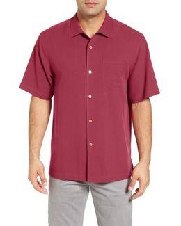 'catalina Twill' Short Sleeve Silk Camp Shirt