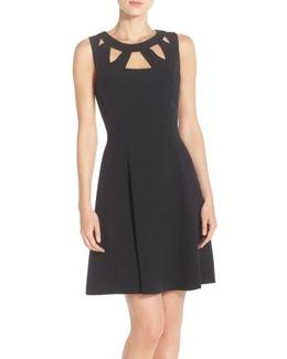 Cut-Out Crepe Dress