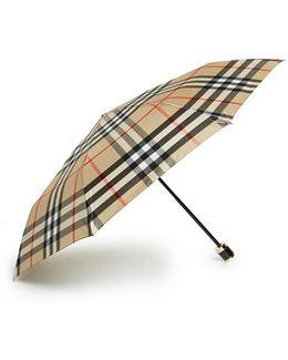 'trafalgar' Check Folding Umbrella