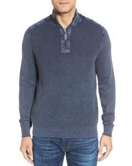 'coastal Shores' Quarter Zip Sweater