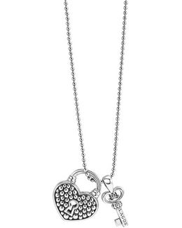 'beloved' Heart Lock & Key Pendant Necklace