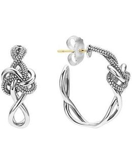 'love Knot' Hoop Earrings