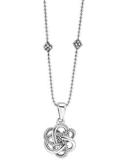 'love Knot' Pendant Necklace