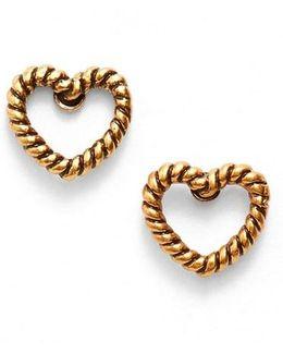 Marc Jacobs Rope Heart Stud Earrings