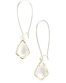 'carrine' Semiprecious Stone Drop Earrings