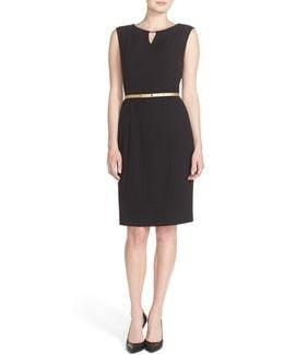 Belted Sheath Dress