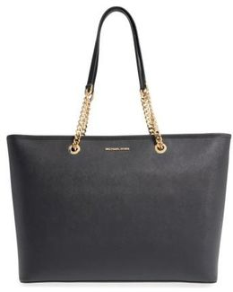 'medium Jet Set Chain' Saffiano Leather Tote