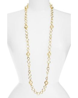 Long Imitation Pearl Necklace