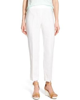 Organic Linen Slim Ankle Pants
