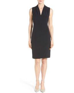 'tonya' V-neck Sheath Dress