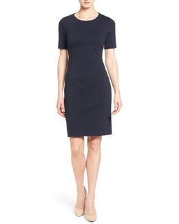 Judianne Short Sleeve Stretch-Crepe Dress