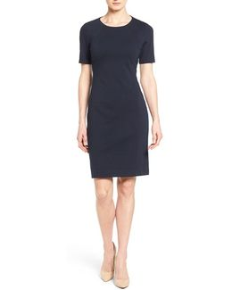 Judianne Short Sleeve Stretch-Crepe Dress