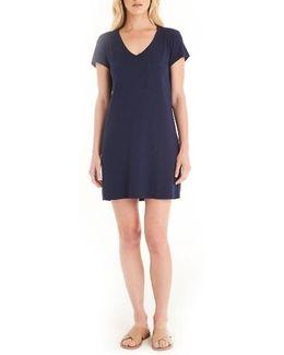 V-neck Jersey Minidress