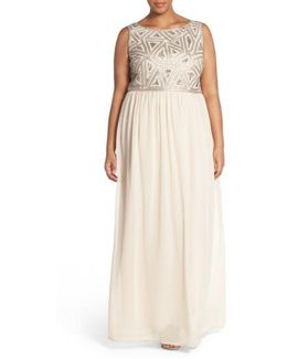 Beaded Bodice A-line Gown