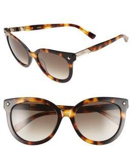 53mm Cat Eye Sunglasses - Cognac Visetos