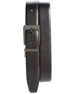 'lizlow' Reversible Leather Belt
