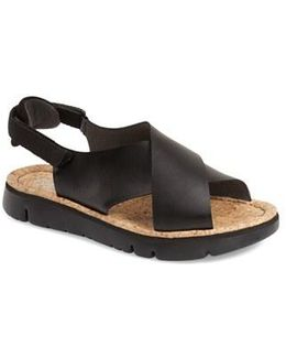 Oruga Criss-Cross Leather Sandals