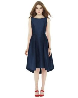 Bow Back Dupioni Fit & Flare Midi Dress