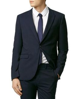 Skinny Fit Navy Blue Suit Jacket