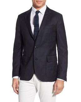 'hopsack' Trim Fit Wool Sport Coat