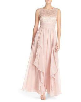 Lace & Chiffon Gown